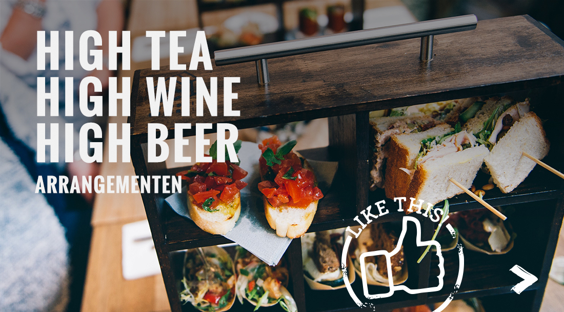 High tea, wine en beer arrangementen
