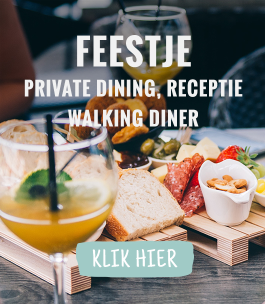 Feestje: private dining, receptie, walking diner